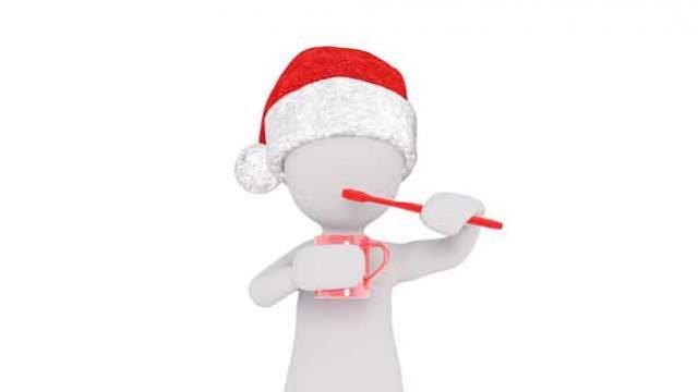 Cuidado de los dientes  en Navidad
